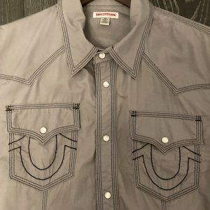 True Religion Western Style Button-up Dress Shirt